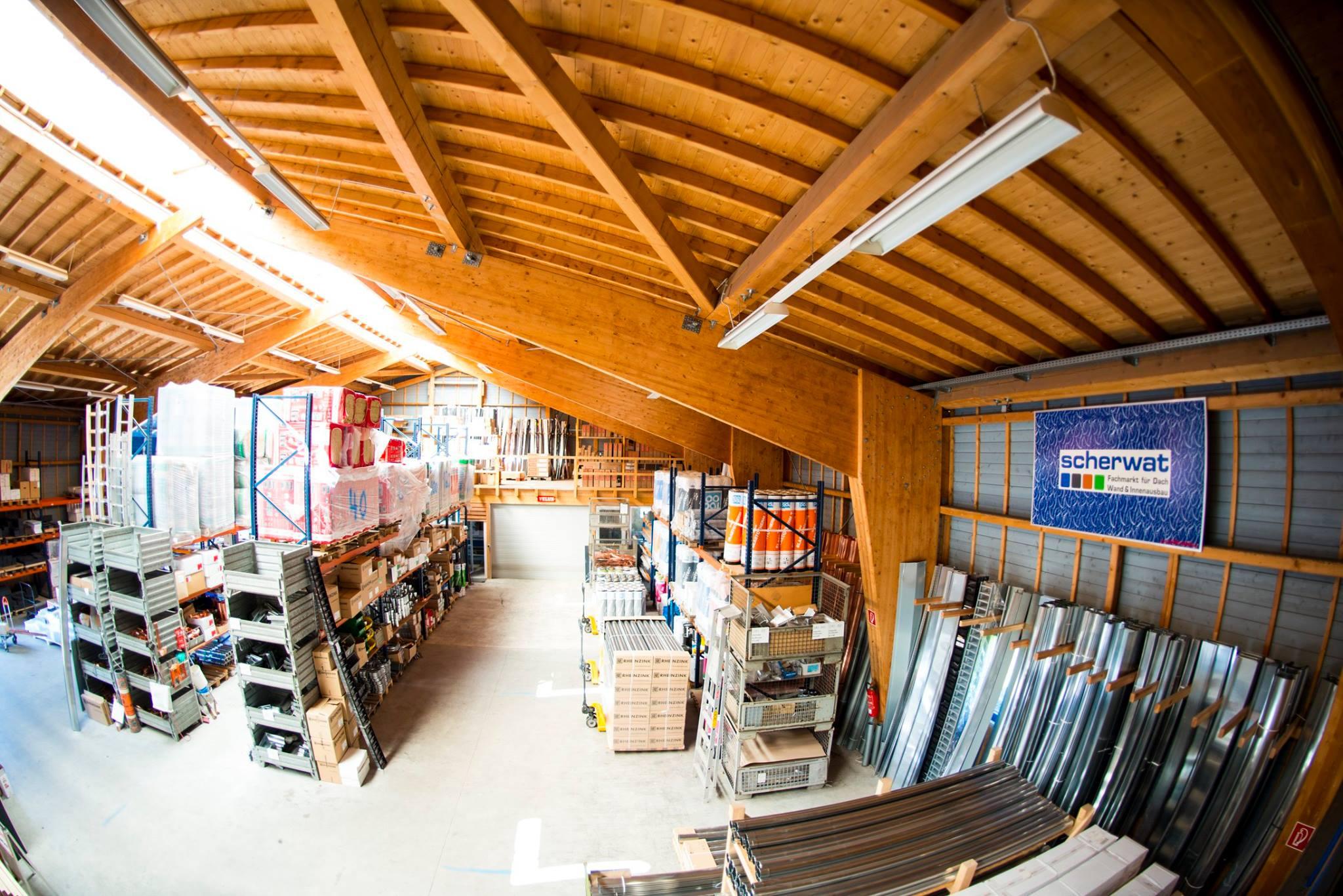Scherwat Lagerhalle in Gevelsberg (Dachbaustoffe, Blechbearbeitung, Plattenzuschnitte und Trockenbaustoffe)
