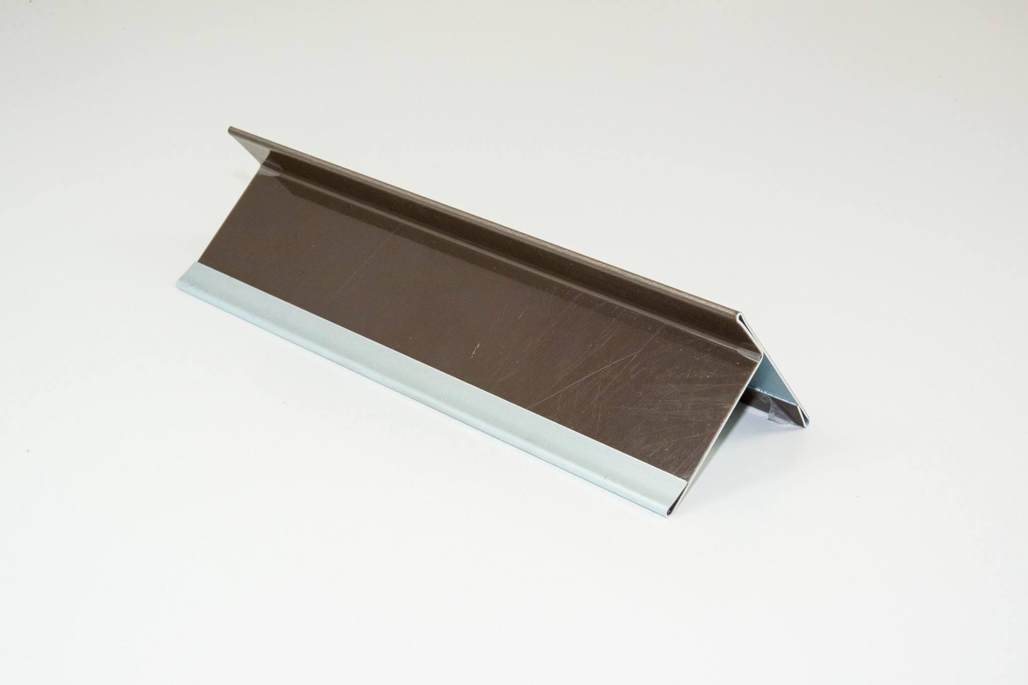 Braunes Aluminiumblech mit Schutzfolie