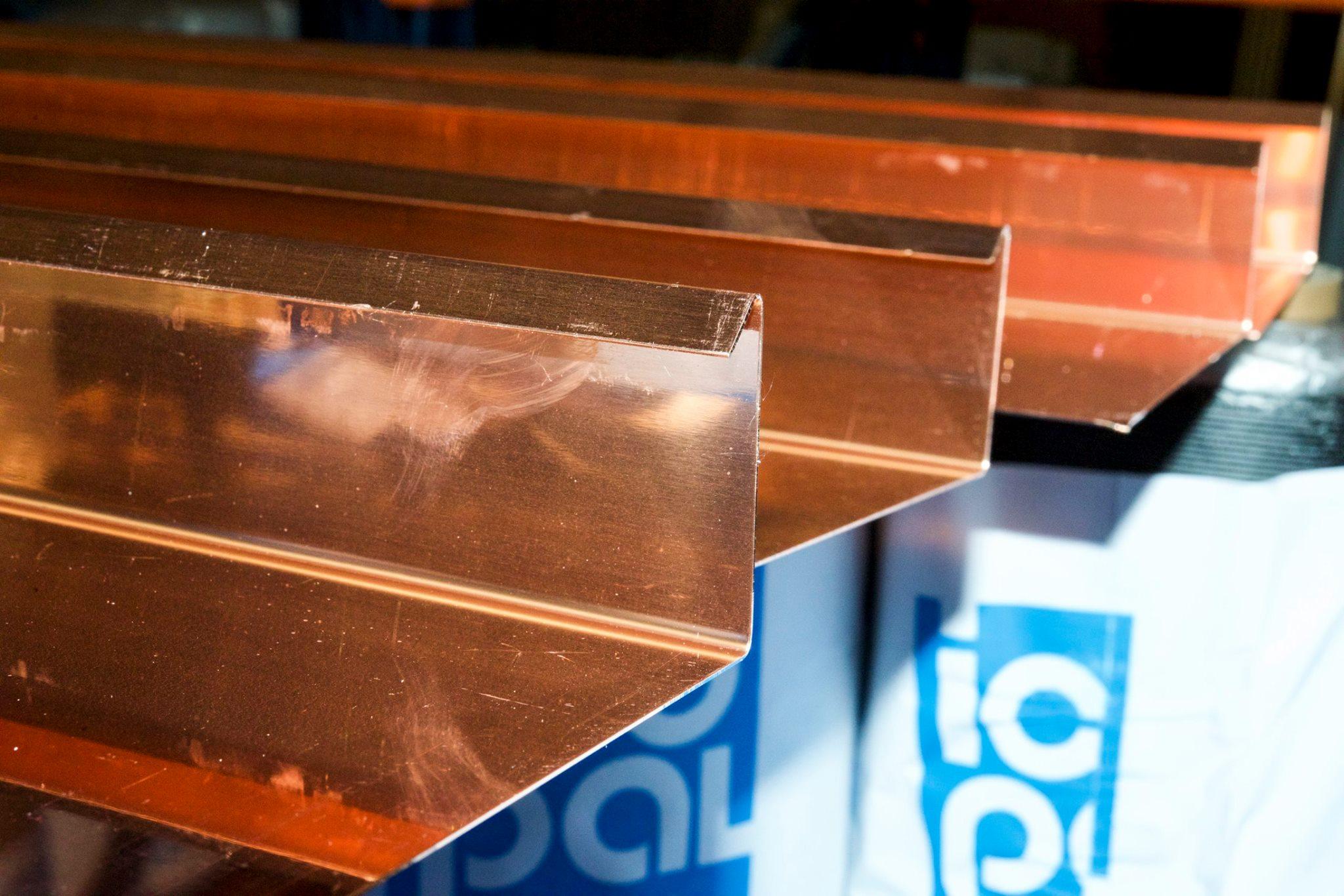 Kupferbleche biegen und schneiden: Scherwat in Gevelsberg