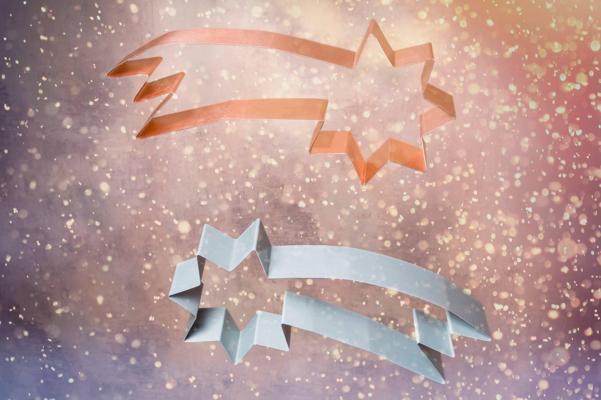 Sternschnuppen aus Zink und Kupfer