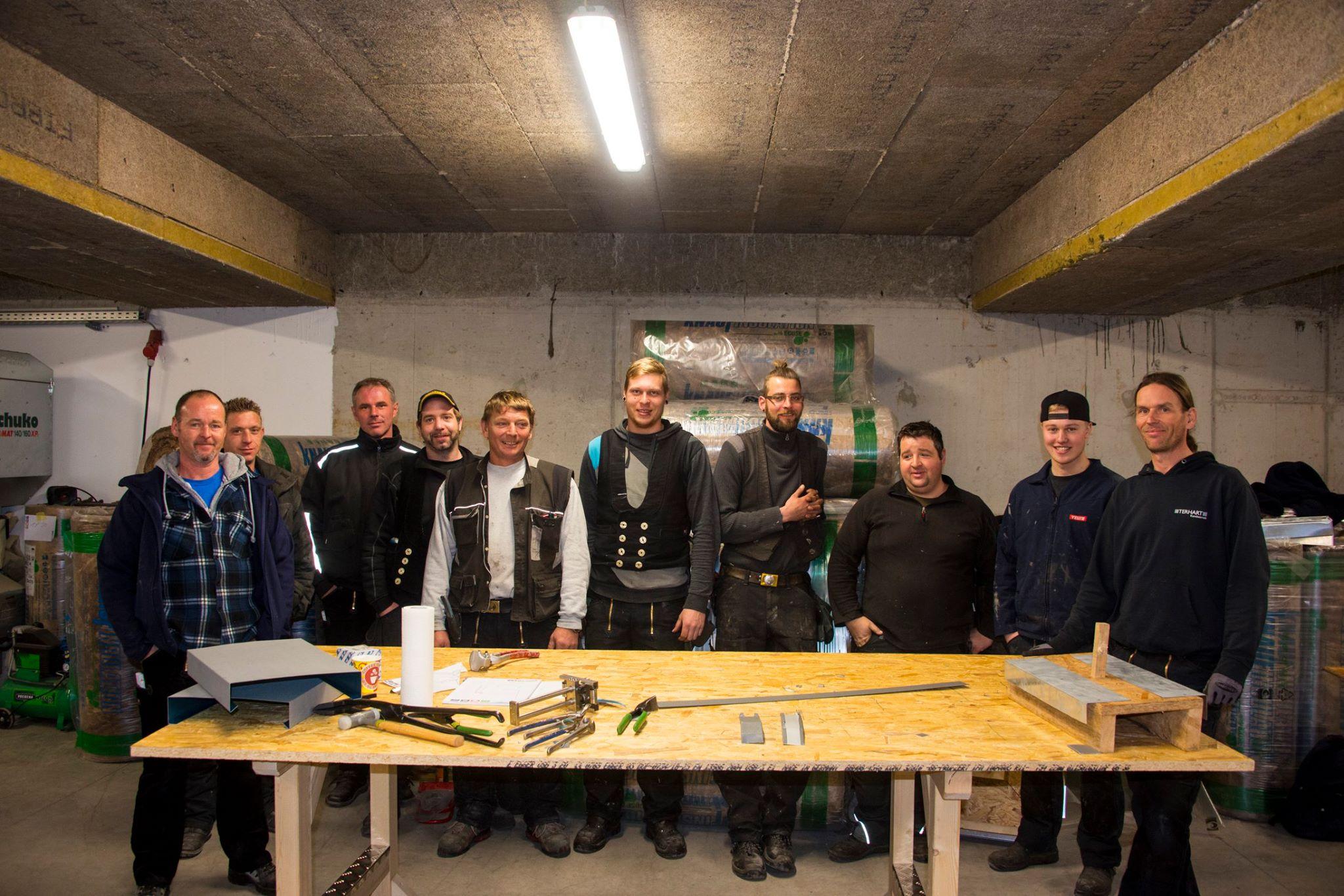 Gevelsberg: Blech-Workshop 2016 mit Klempnermeister Norbert Terhart