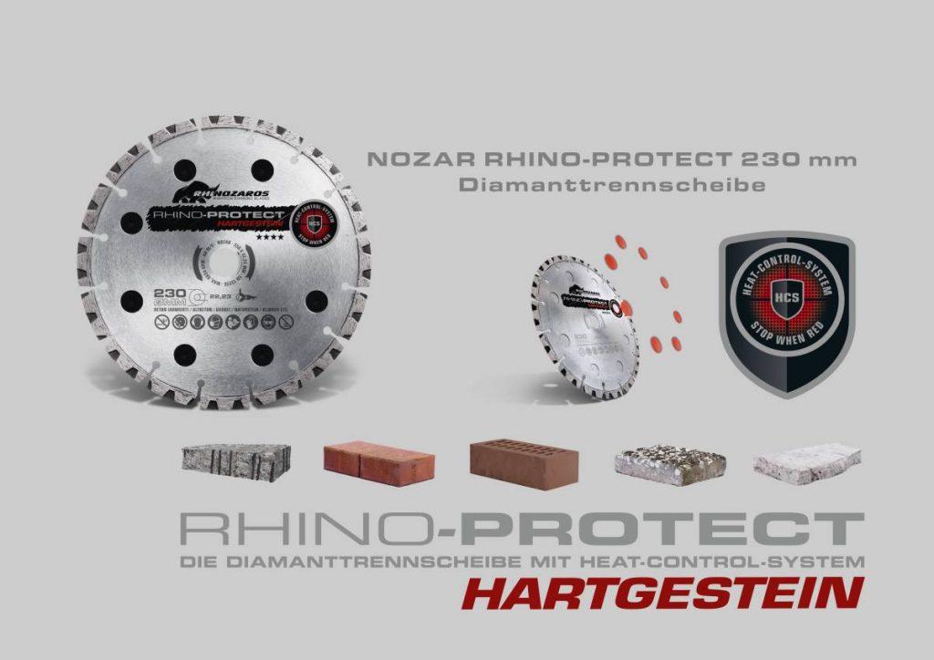 NOZAR RHINO-PROTECT 230 mm Diamanttrennscheibe