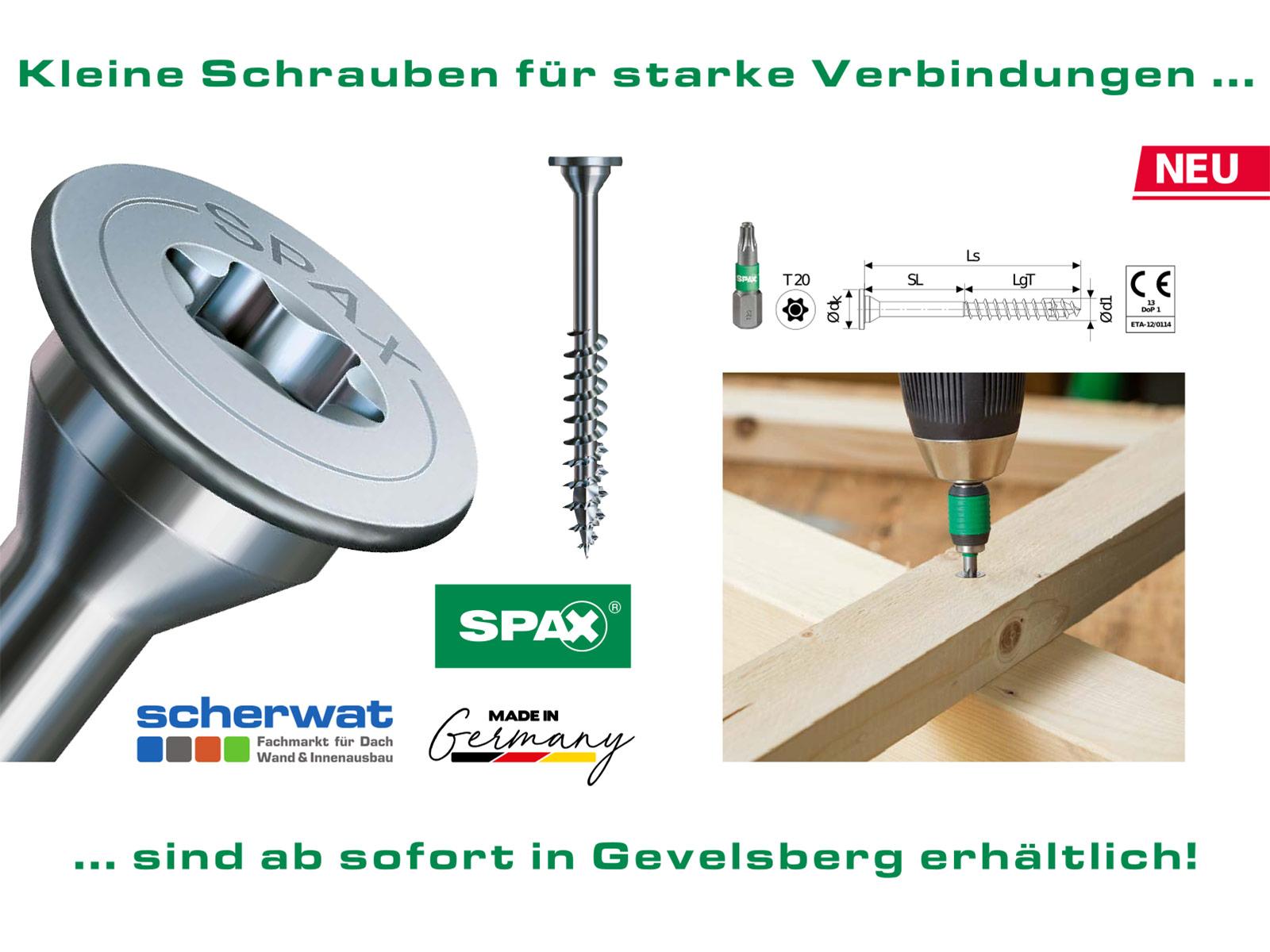 SPAX Universalschraube mit Tellerkopf und ohne Linse